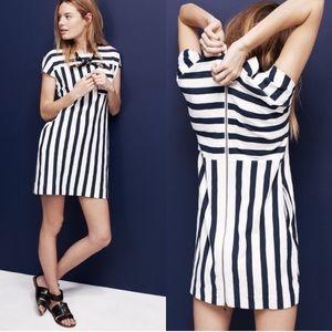 Madewell Zipline Mini Dress Sidestripe Blue White